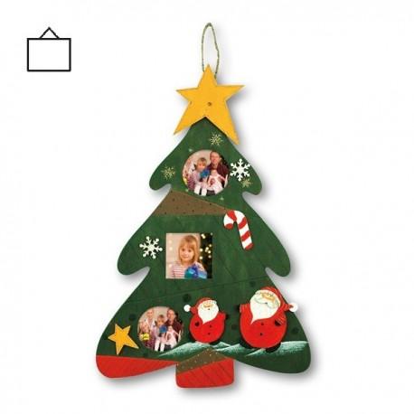 Cornici Foto Di Natale.Cornice Natalizia Portafoto Da Tavolo Albero Di Natale